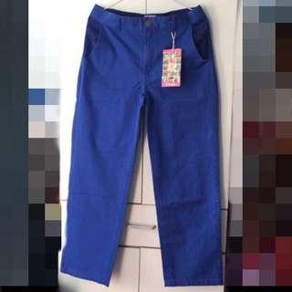 ‼️平放 日本 TITICACA 深藍色長牛仔褲 暗花圖案
