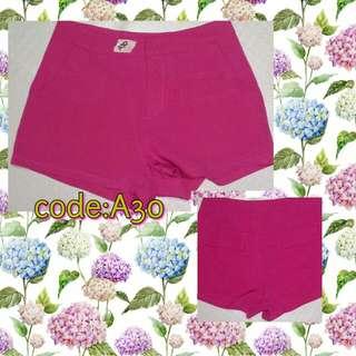 A30 Hot Pink Sexy Shorts