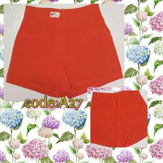 A27- Sizzling Orange Sexy Shorts