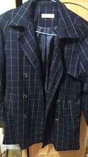 starmimi 格紋風衣(有綁帶)