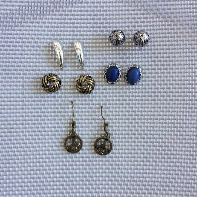 5 pairs earrings