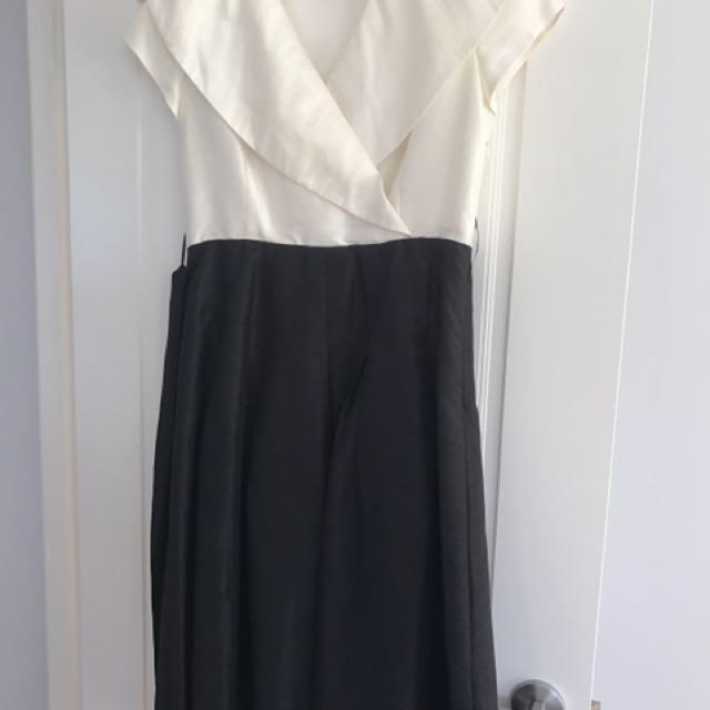 """5PM"" Brand - Black + White Cocktail Dress"