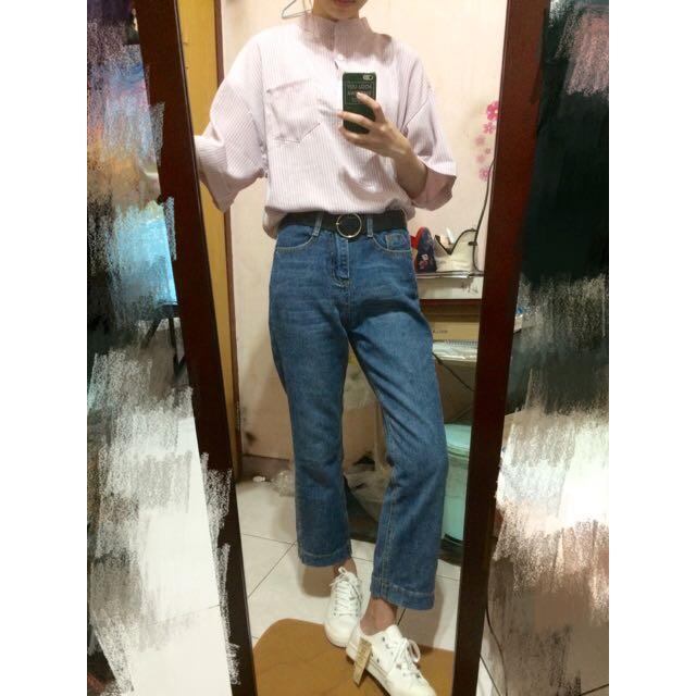 🔺微喇叭牛仔長褲