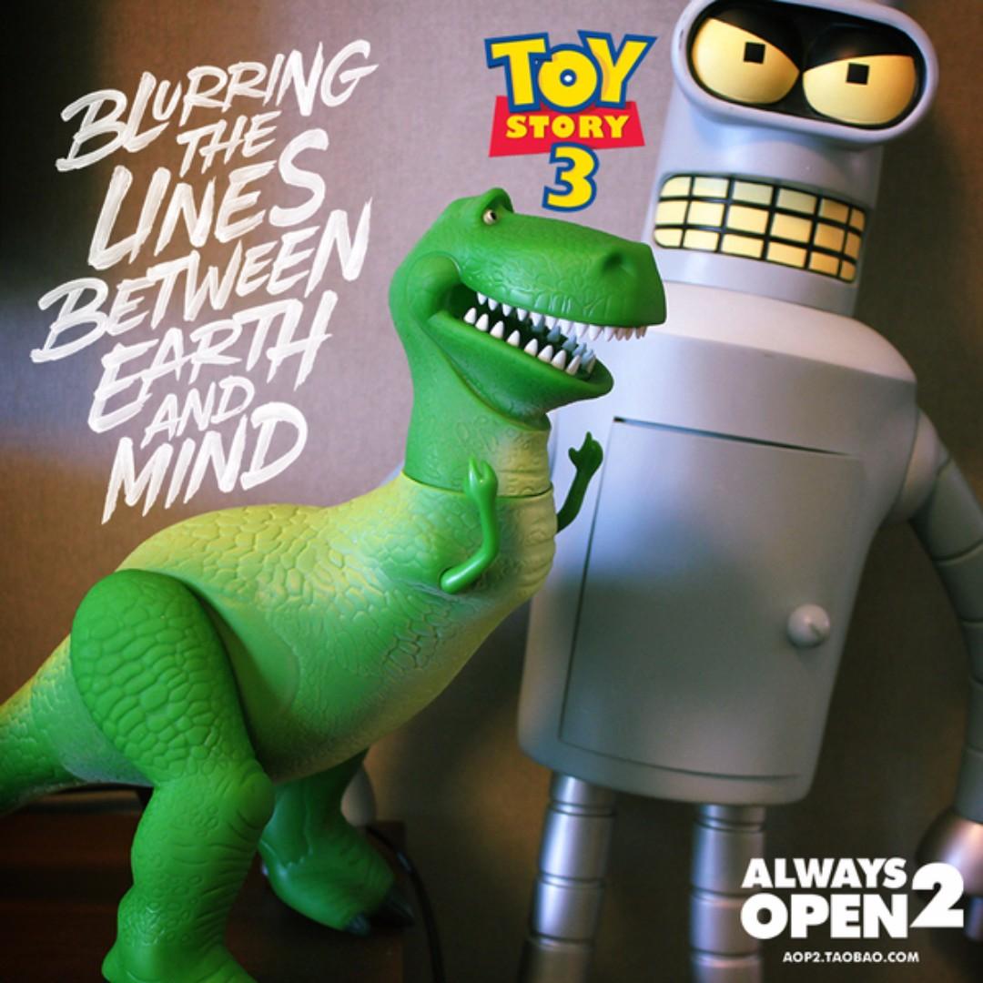 尾單超大抱抱龍綠恐龍公仔擺件玩具手辦 玩具總動員 超大 1.1