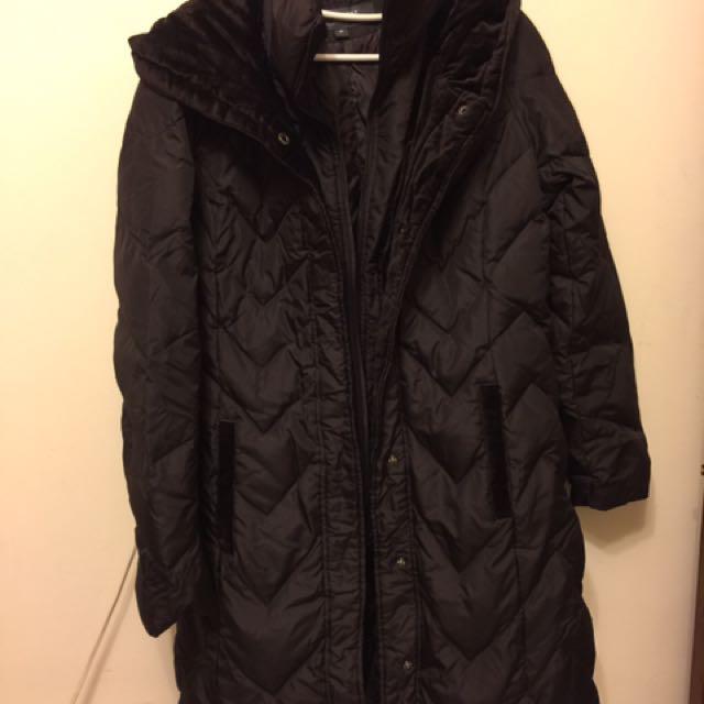 住美國時買的 二手咖啡色長版大衣 羽絨大衣