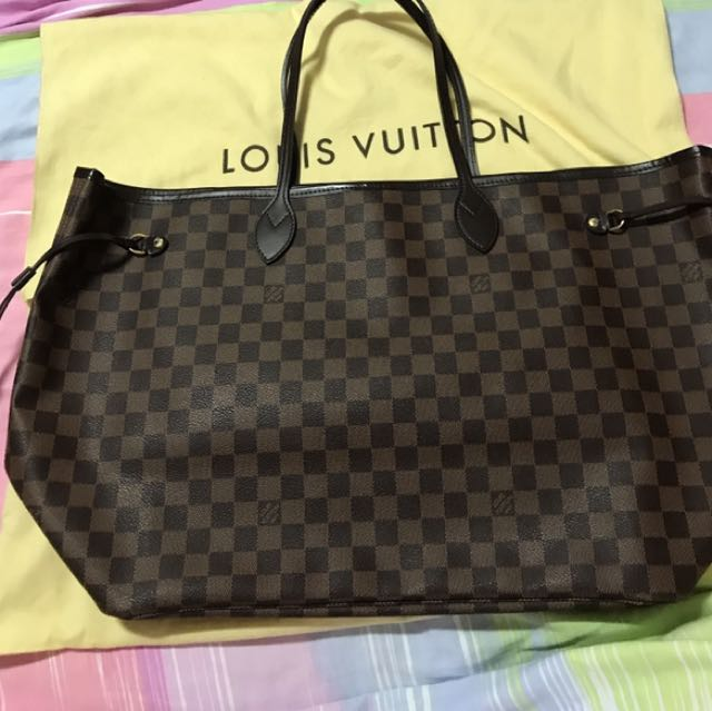 💯 % Authentic Louis Vuitton Neverfull GM