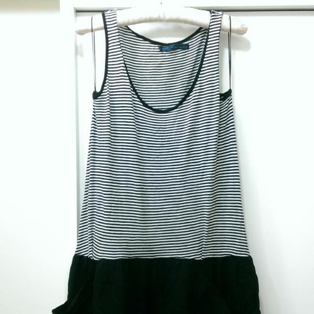 二手 Zara 條紋內撘短裙