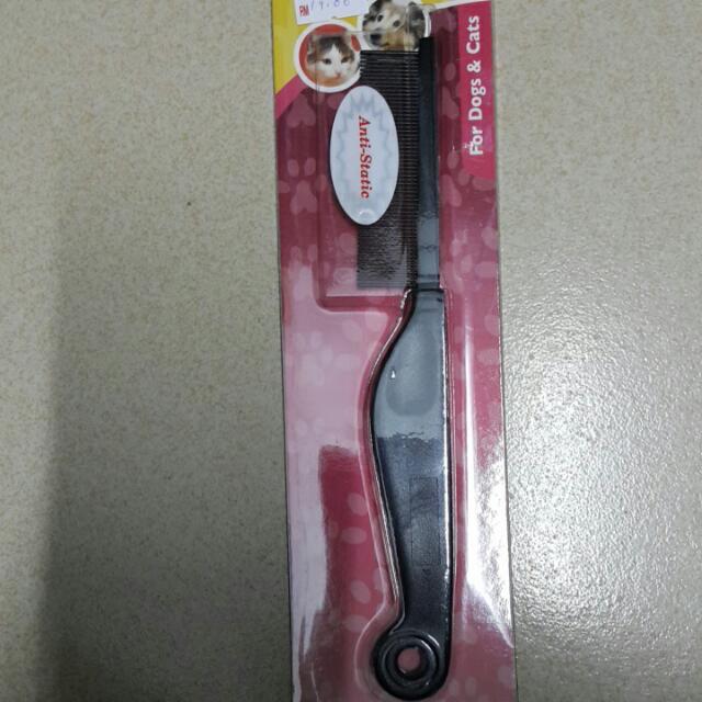 Anti- Static Flea Comb Plastic Handle