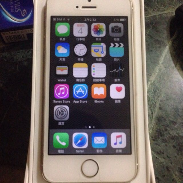 i5s 64g 有盒子 iphone 5s . 64gb  ios9.1  新北可面交