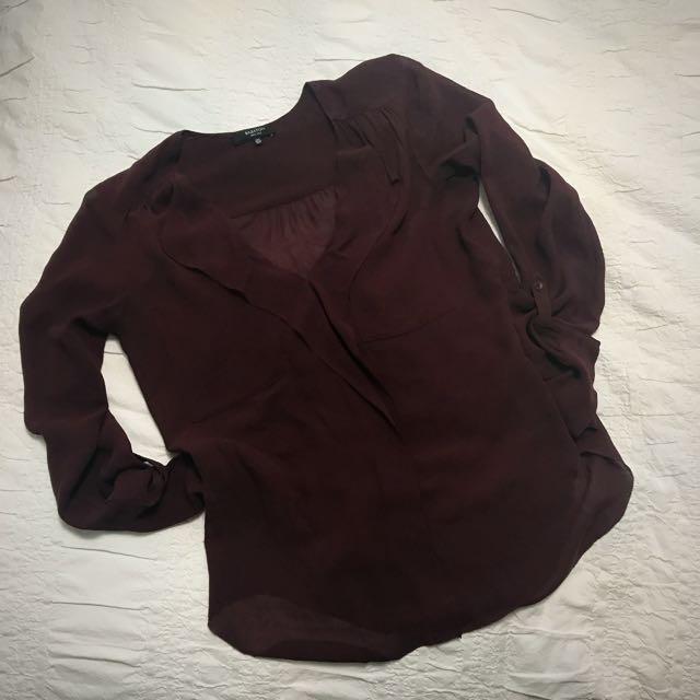 Babaton 100% Silk Blouse (Size XXS)
