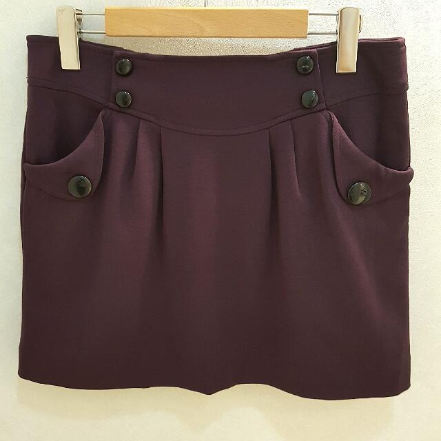 Bear Two專櫃品牌 深紫短裙