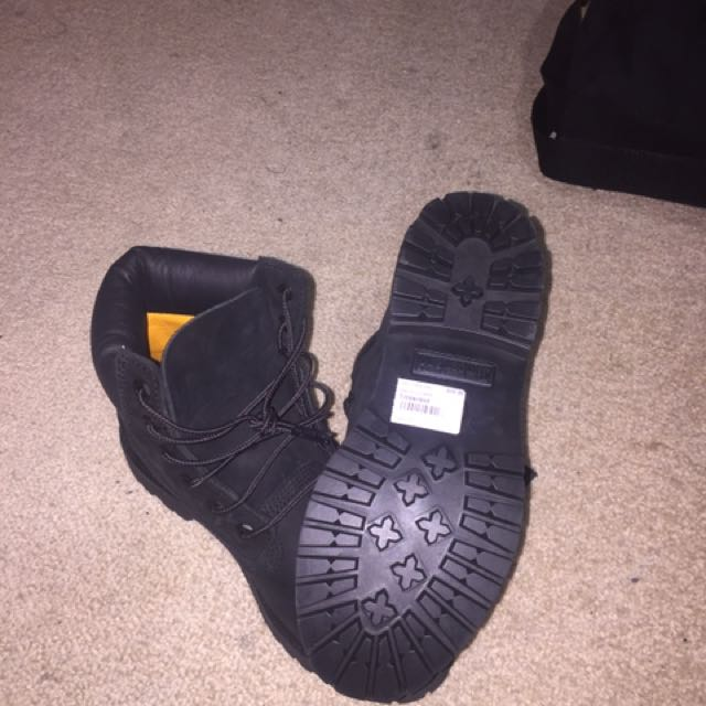BLACK - Timberlands   7 Woman's