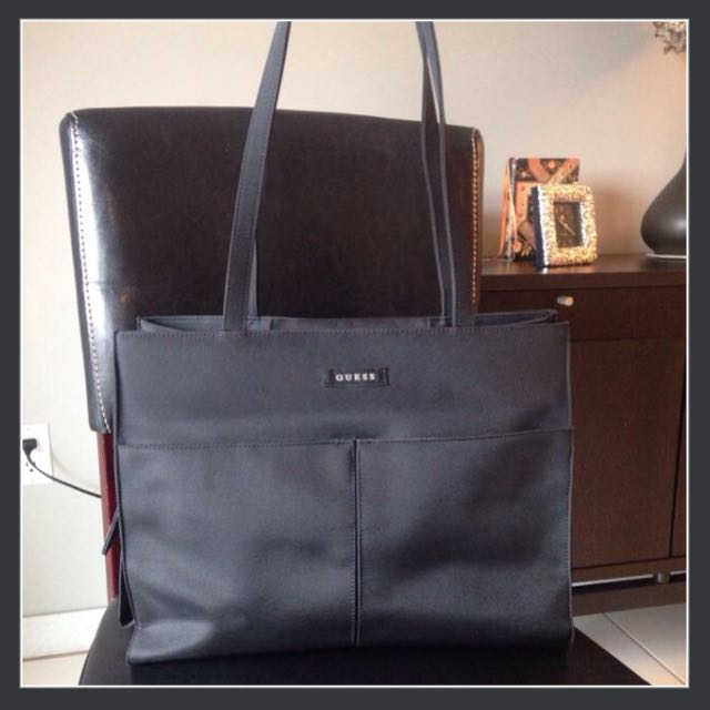 Black Guess Tote Bag