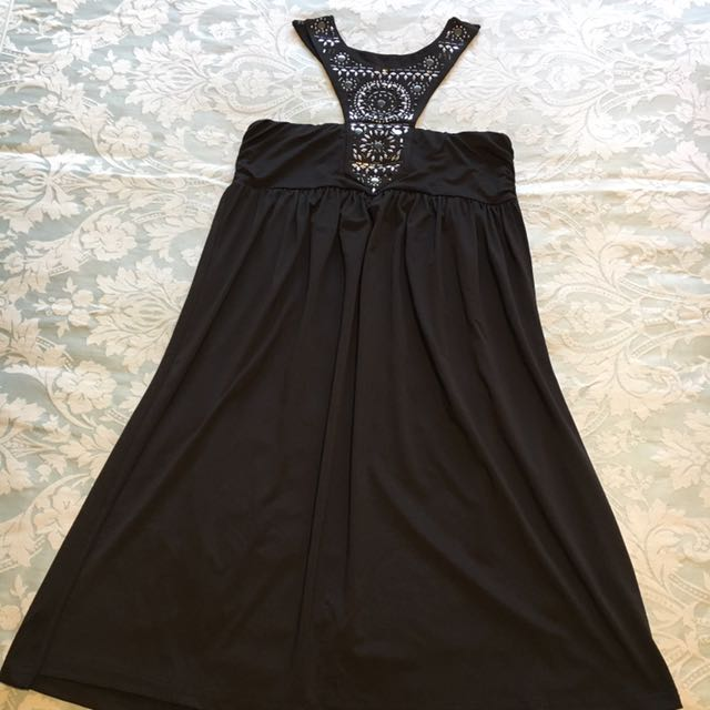 Black High Neck Cocktail Dress