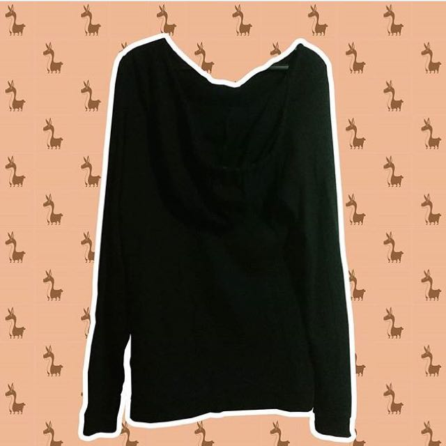 Black Top/Dress Hoodie