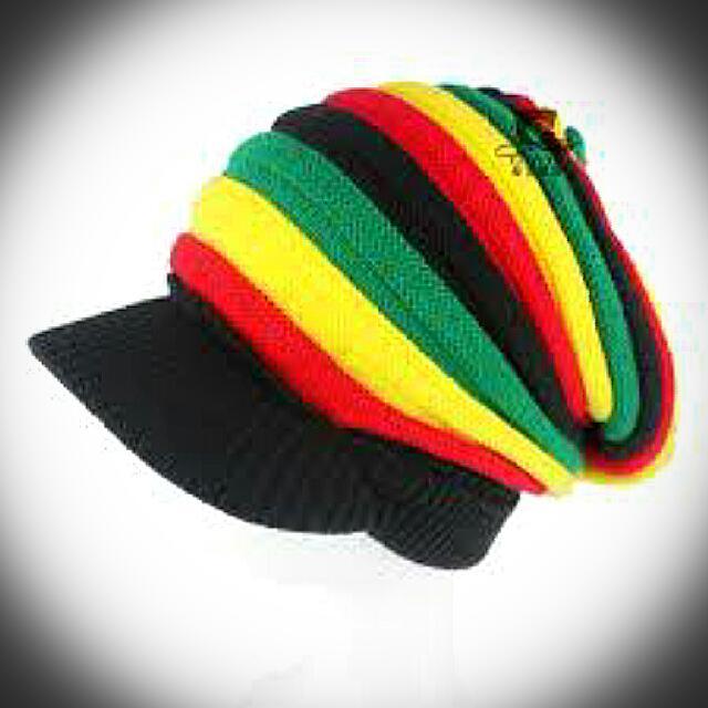 bccf985cf48 Bob Marley Visor Rasta Beanie (Snow Cap)