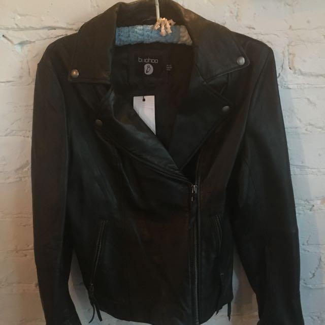 BooHoo Leather Biker Jacjet
