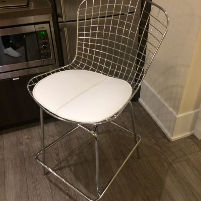 BRAND NEW Pair Of Chrome Counter Stools