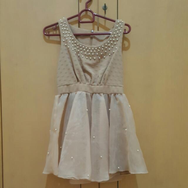 brown mini korean dress