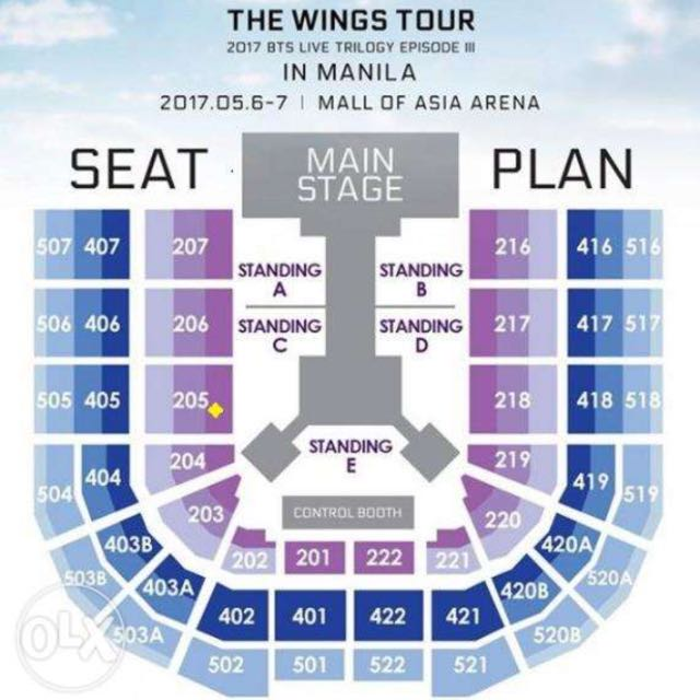 BTS TICKET May 6, 2017 Mall of Asia