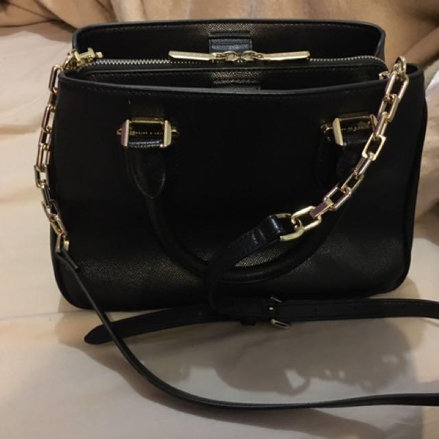 Charles Keith Black Chain Bag