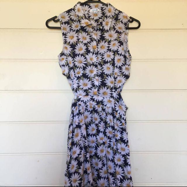 Collared Button Down Floral Dress
