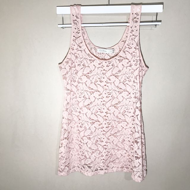 Costa Blanca Pink Lace Top