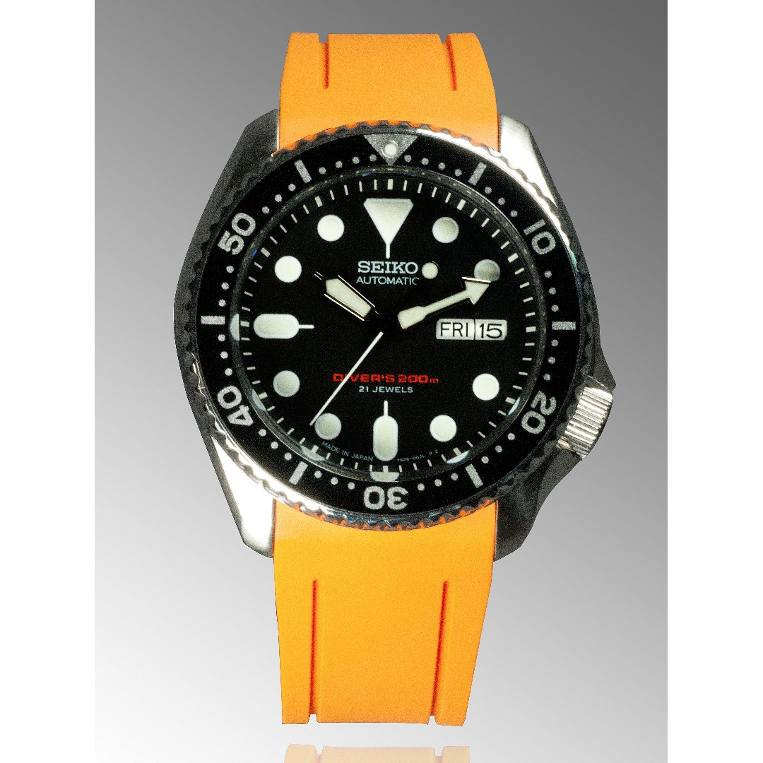 Skx Stock Quote Crafter Blue Curved End Rubber Strap For Seiko Skx Seriescb05