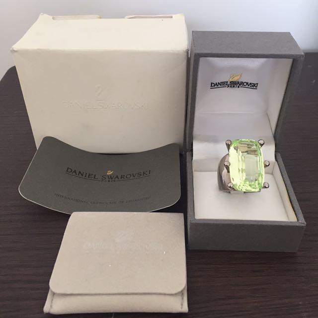 Daniel Swarovski Chrysolite Ring