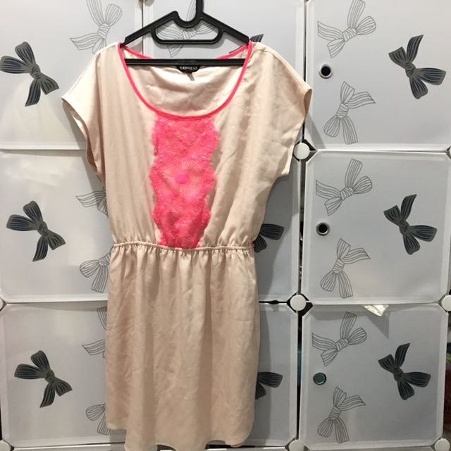 Express Pink Lace Dress