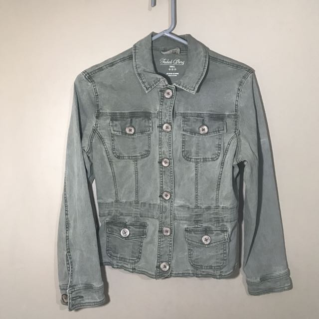 Faded green denim Jacket