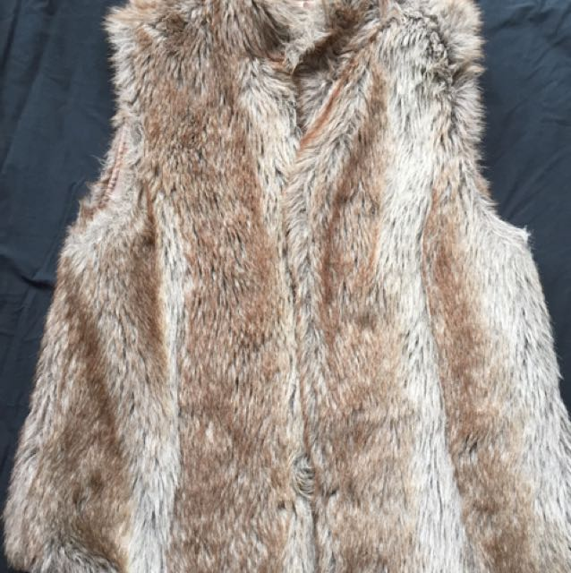faux Fur vest/ jacket