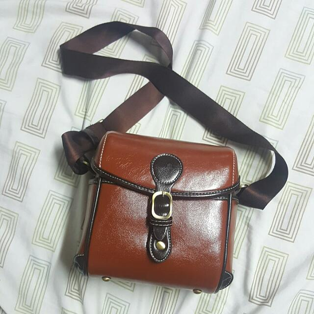 Faux Leather DSLR Bag