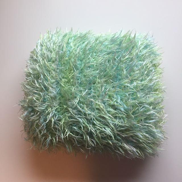 Fluffy Green Pillow