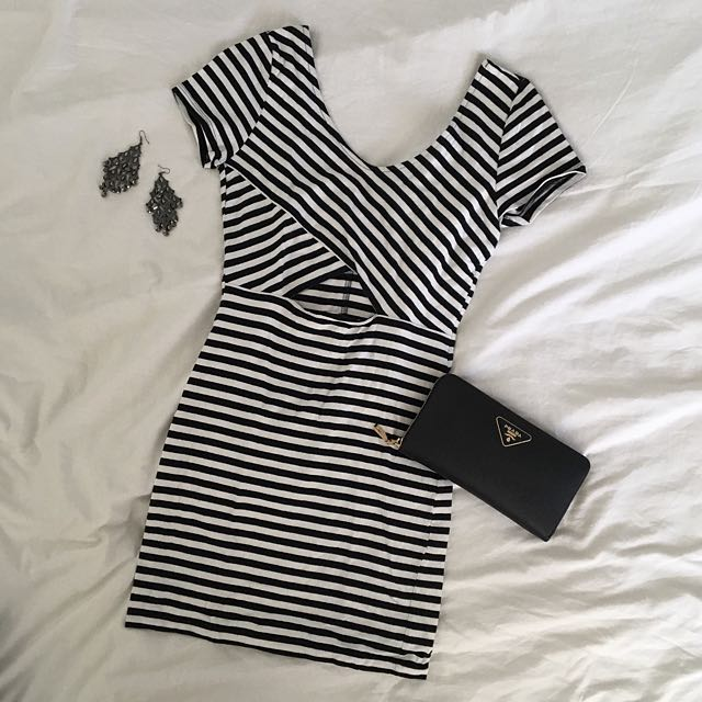 Forever21 Striped Jersey Dress
