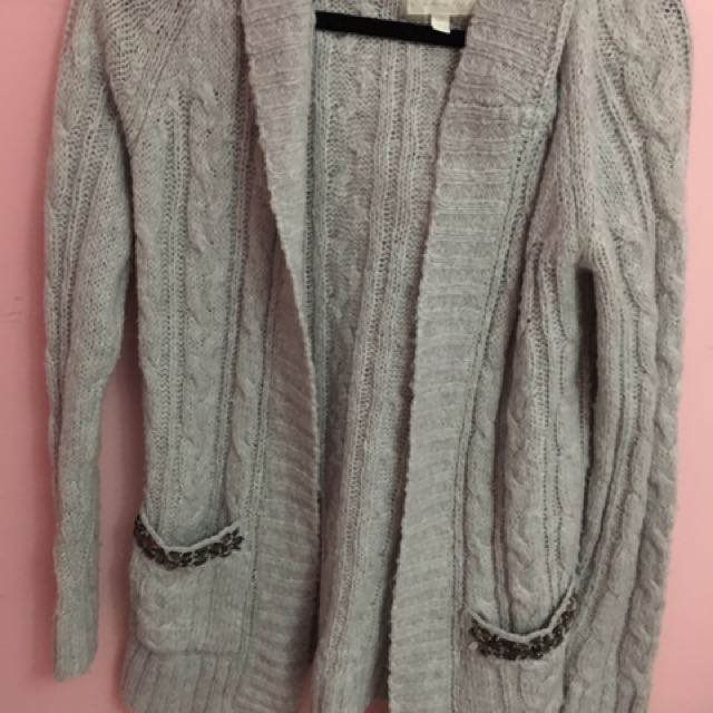 Forever 21 Mid Length Wool Sweater Cardigan