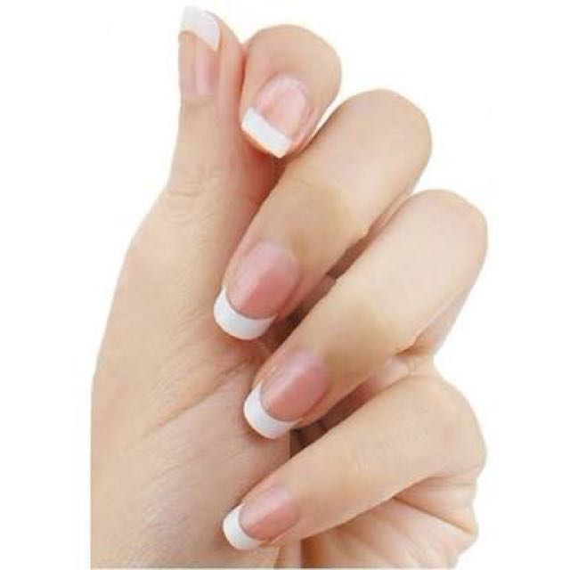 French White Tips Acrylic Nails