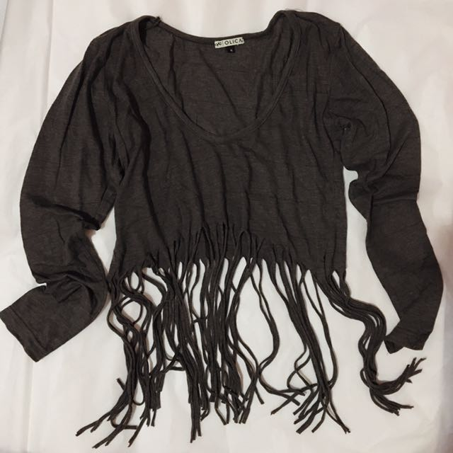 Hot Item!!! Fringe Crop Top