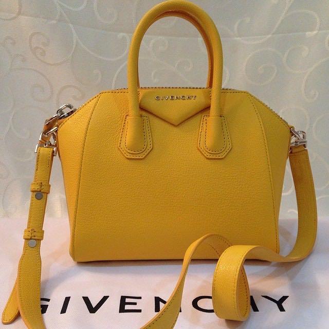 393102706 Brand New! Givenchy Mini Antigona bag in bright-yellow, Luxury, Bags ...