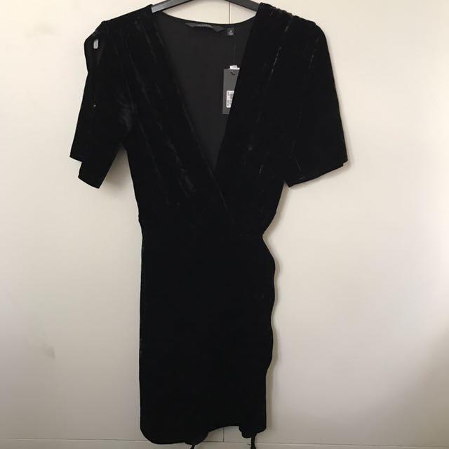 Glassons Black Velvet Dress