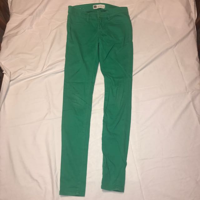 Green Jeans Size 6 #THECAFE