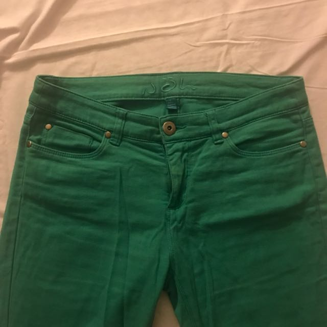 Green Soft Denim Jeans Size 8 #THECAFE