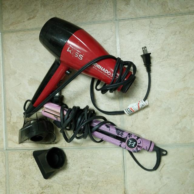 Hair Dryer And Hair Straightener