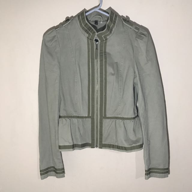 H&M Army green Jacket L