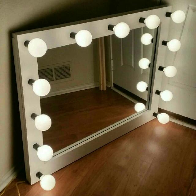 Huge Hollywood Showgirl Lighted Vanity Mirrors