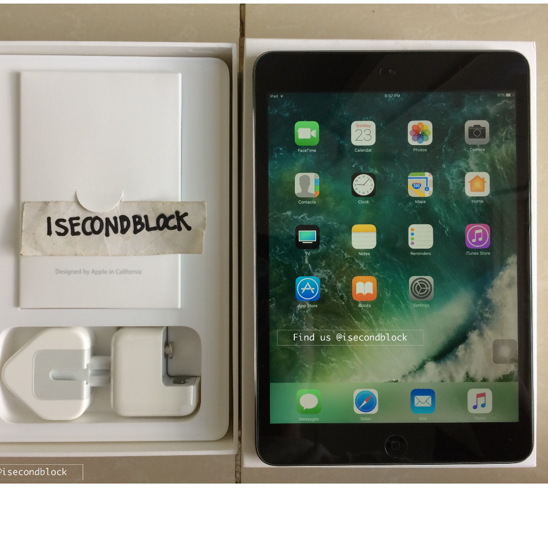 Ipad Mini 2 16GB WIFI ONLY Second Fullset Istimewa