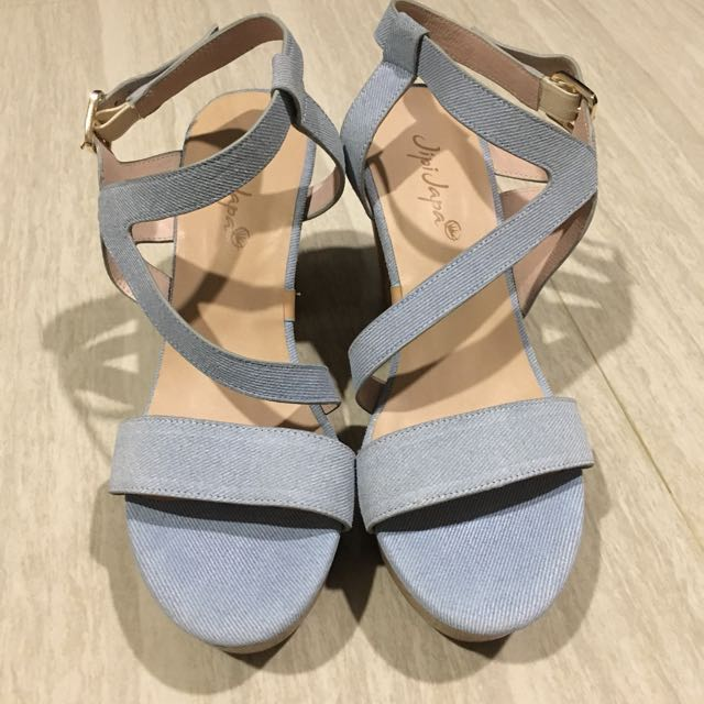 Jipi Japa Jeans Ankle Strap Wedges
