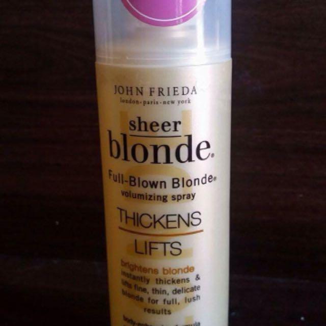 John Frieda Sheer Blonde Spray And forever Sunshine  Fragrance Mist