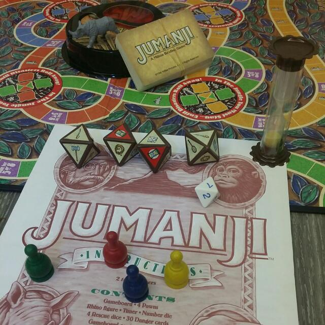 Jumanji Board Game Cards