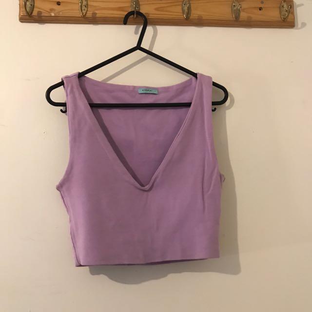 Kookai Purple Crop